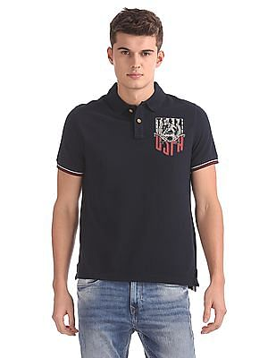 U.S. Polo Assn. Denim Co. Muscle Fit Solid Polo Shirt