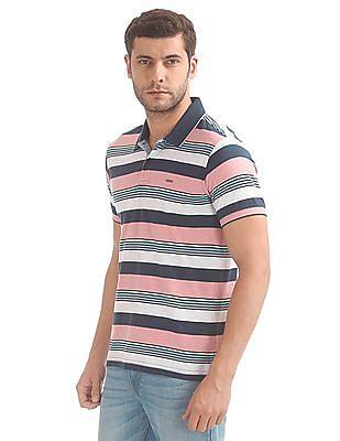 Izod Striped Jersey Polo Shirt