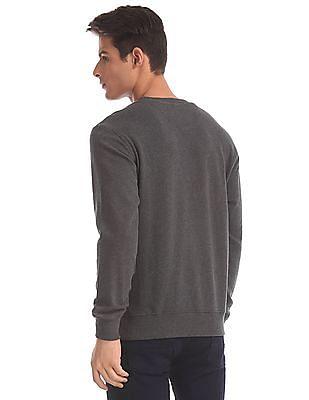 U.S. Polo Assn. Grey Crew Neck Heathered Sweatshirt