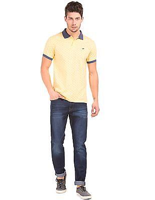Ruggers Regular Fit Printed Polo Shirt