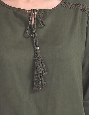 Cherokee Solid Tie-Up Top