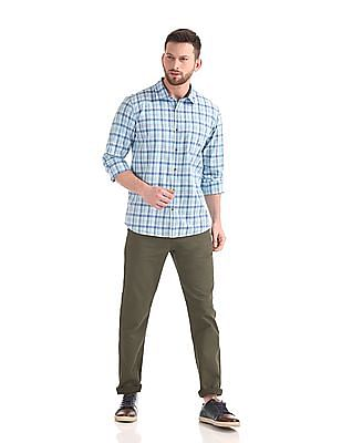 Ruggers Urban Slim Fit Flat Front Trousers