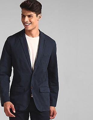 GAP Blue Casual Classic Blazer In Stretch