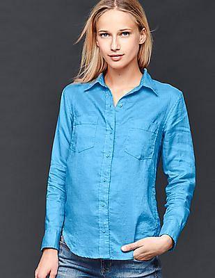 GAP Linen Boyfriend Shirt