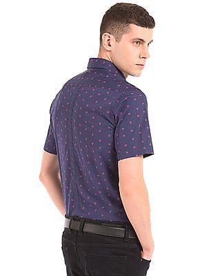 Arrow Sports Origami Print Slim Fit Shirt