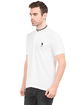 U.S. Polo Assn. Mandarin Collar Slim Fit Polo Shirt