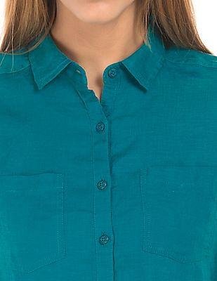U.S. Polo Assn. Women Regular Fit Linen Shirt