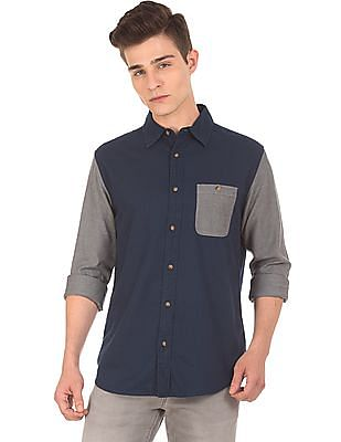 Aeropostale Colour Block Regular Fit Shirt