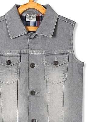 Cherokee Grey Boys Sleeveless Denim Jacket