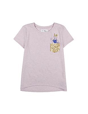 GAP Girls Purple GapKids & Disney Sequin T-Shirt