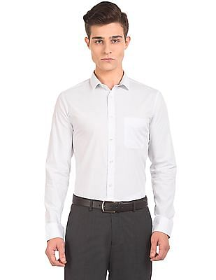 USPA Tailored Dot Print Slim Fit Shirt