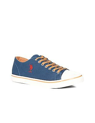 U.S. Polo Assn. Blue Cap Toe Canvas Sneakers