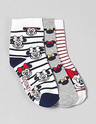 GAP Girls Disney Minnie Mouse Crew Socks (3-Pack)