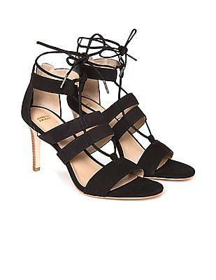 Johnston & Murphy Strappy Leather Stilettos