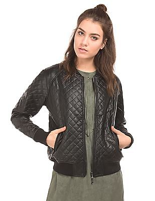 EdHardy Women Quilted Bomber Jacket
