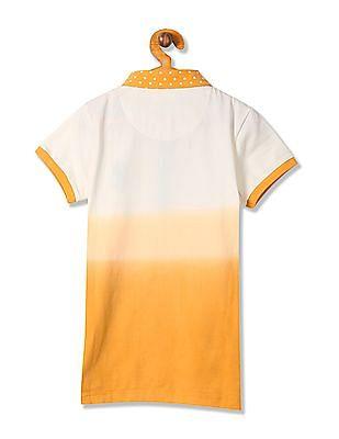 U.S. Polo Assn. Kids Girls Short Sleeve Ombre Dyed Polo Shirt