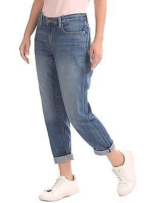 GAP Slim Boyfriend Fit Stone Wash Jeans
