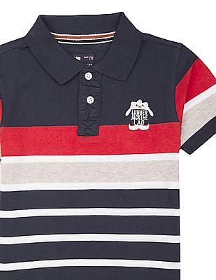 FM Boys Boys Striped Slim Fit Polo Shirt