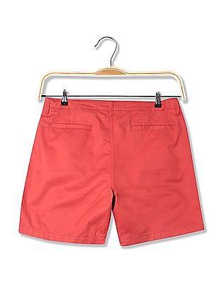 Aeropostale Solid Cotton Shorts