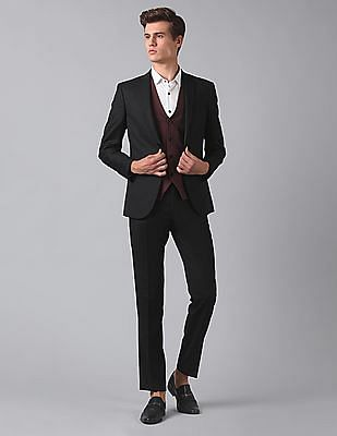 True Blue Slim Fit Three Piece Suit