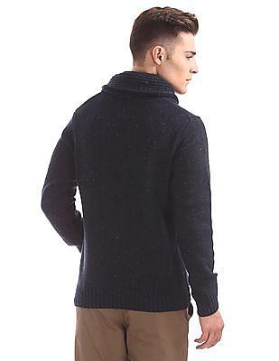 U.S. Polo Assn. Denim Co. Shawl Collar Lambswool Sweater