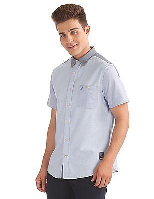 Nautica Short Sleeve Sailcoth Shirt