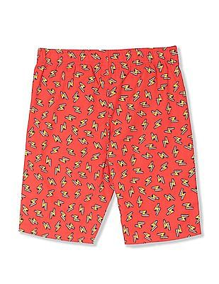 FM Boys Boys Contrast Print Boxer Shorts