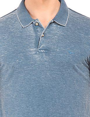 Flying Machine Burn Out Wash Slim Fit Polo Shirt