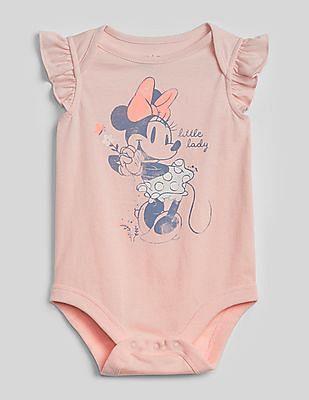 GAP Baby Pink Disney Minnie Mouse Bodysuit