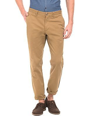 U.S. Polo Assn. Slim Fit Solid Chinos