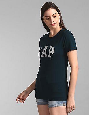 GAP Green Short Sleeve Foil Logo T-Shirt
