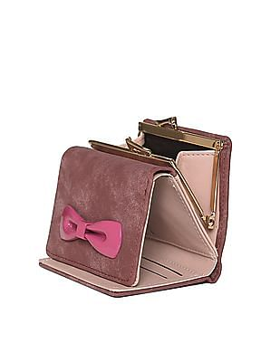 SUGR Tri-Fold Bow Trim Wallet