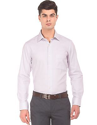 Arrow French Placket Patterned Weave Shirt