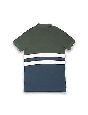 U.S. Polo Assn. Kids Boys Striped Regular Fit Polo Shirt