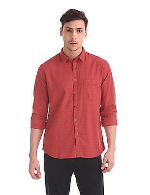 Cherokee Long Sleeve Solid Shirt