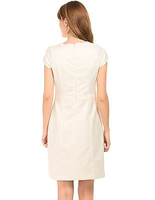 Arrow Woman Jacquard Sheath Dress