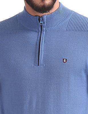 Izod Half Zip Wool Blend Sweater