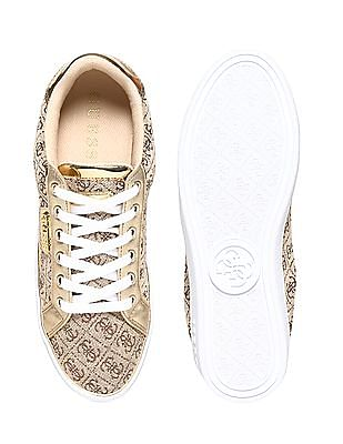 GUESS Contrast Print Lace Up Sneakers