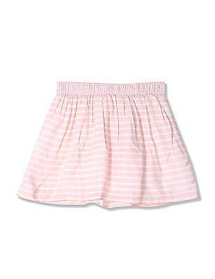U.S. Polo Assn. Kids Girls Striped A-Line Skirt