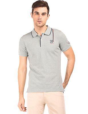Gant Tipped Collar Pique Polo Shirt