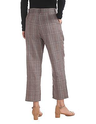 Elle Cropped Belted Trousers