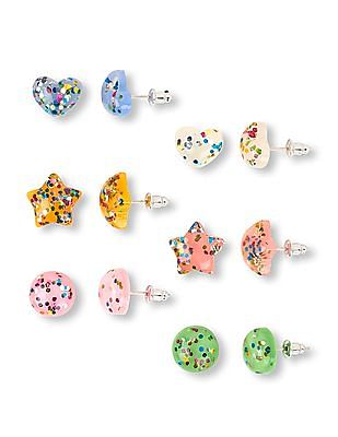 The Children's Place Girls Assorted Confetti Earrings 6-Pack