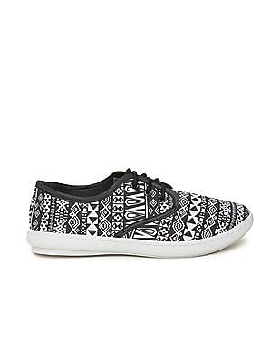 SUGR Printed Lace-Up Sneakers