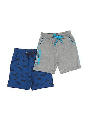 Cherokee Boys Drawstring Waist Shorts - Pack Of 2