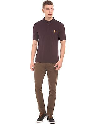 U.S. Polo Assn. Button Down Slim Fit Polo Shirt