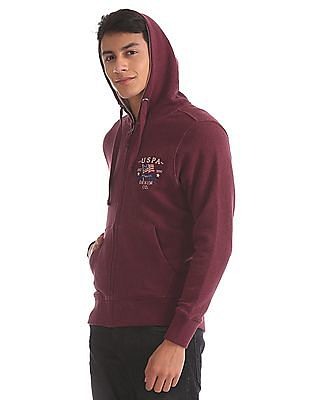 U.S. Polo Assn. Denim Co. Zip Up Hooded Sweatshirt
