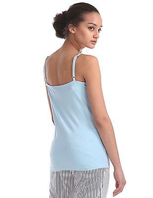 U.S. Polo Assn. Women Lace Trim Solid Camisole