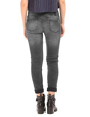 Flying Machine Women Moto Style Mid Rise Skinny Jeans