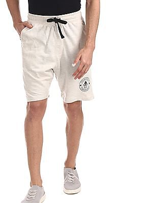 Colt White Mid Rise Knit Shorts