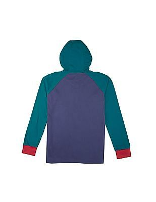 U.S. Polo Assn. Kids Boys Colour Block Hooded T-Shirt